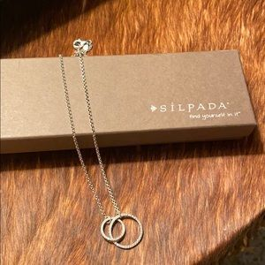Silpada Necklace N2297 Sweet Circles.  Retired.